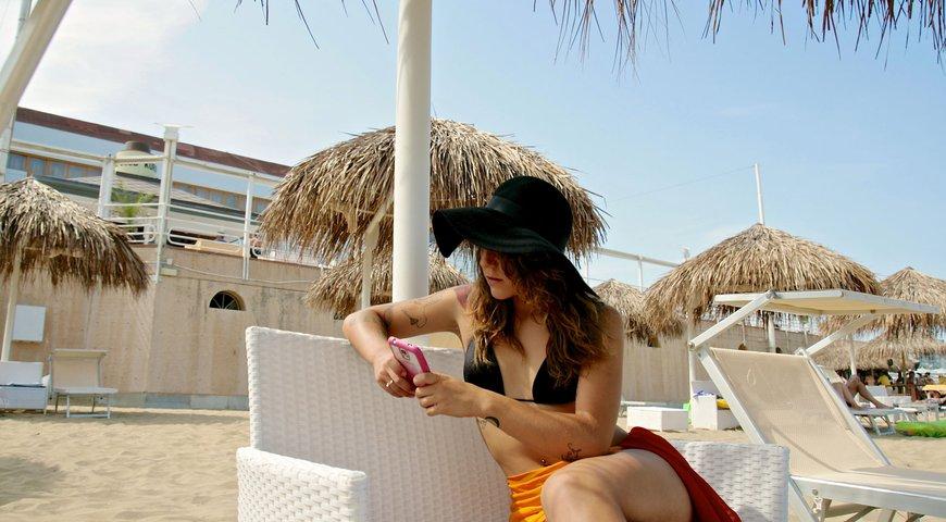 Tropical beach 1 consorzio spiaggia viva 39 cuore di for Bagno 5 lignano riviera